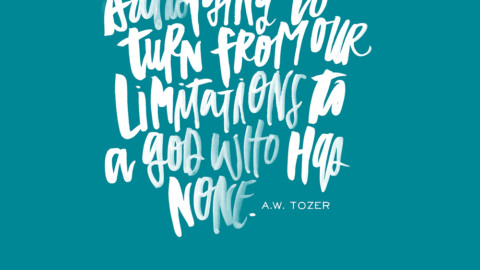 Sunday Inspiration from A.W. Tozer