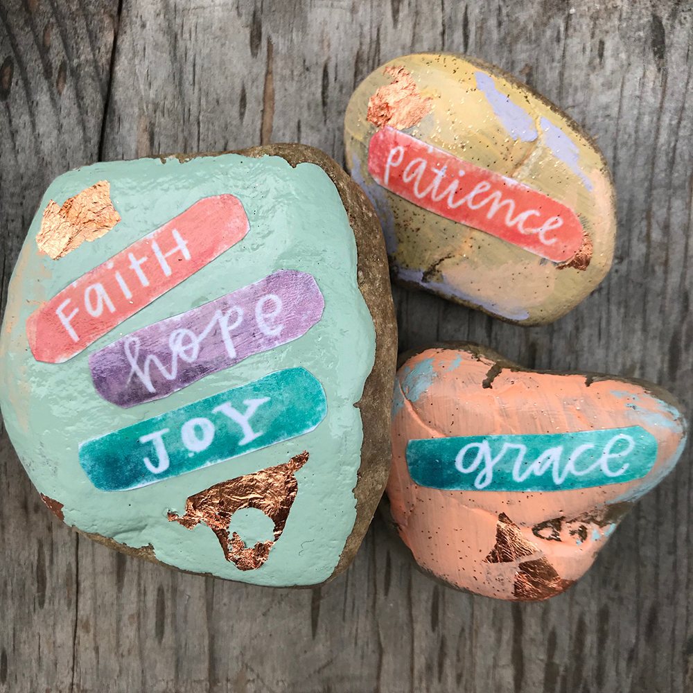 DIY Word Rocks using Printables with Beth LaFleur