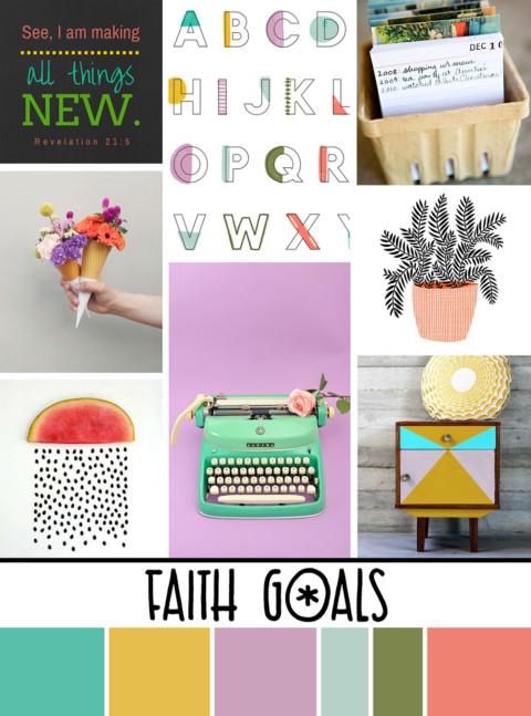 January Artist Mood Board & New Releases: Faith Goals