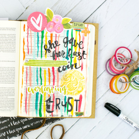 Bible Journaling Tutorial | Adding Texture with Pencil Rubbings – Widows Coin