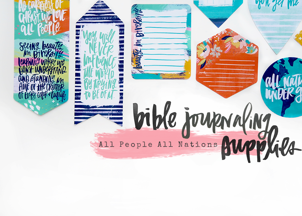 mixed media Bible journaling entry by Shanna Noel | Winter 2018 New Release Illustrated Faith All People All Nations by Bella Blvd