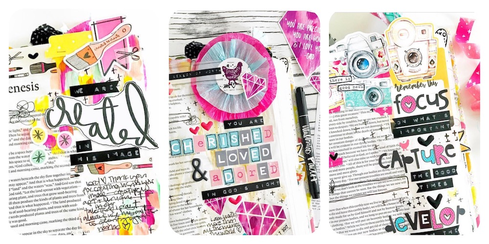 Bible Journaling Layered Tabs Tutorial by April Crosier aka Marine Parents | Illustrated Faith tab crush