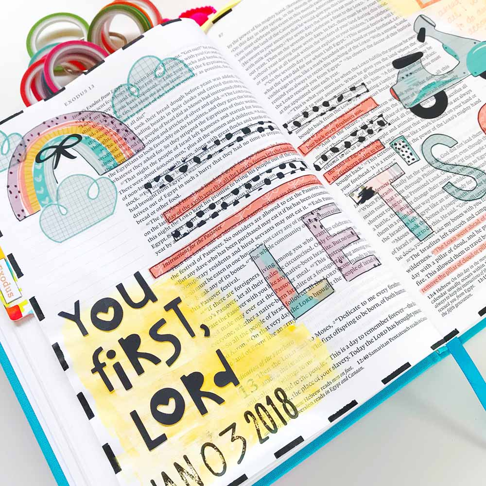 Hybrid Bible Journaling by Cristin Howell | You First, Lord