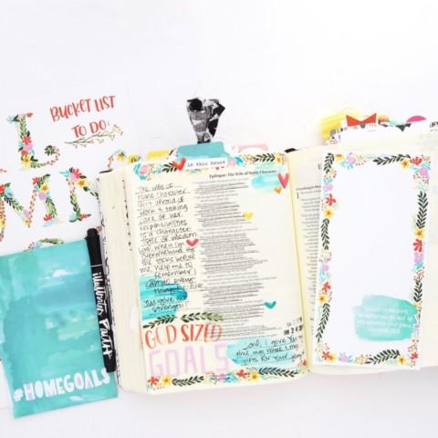 Bible Journaling Process Video | Print and Pray Shop Back to Basics | Home Goals