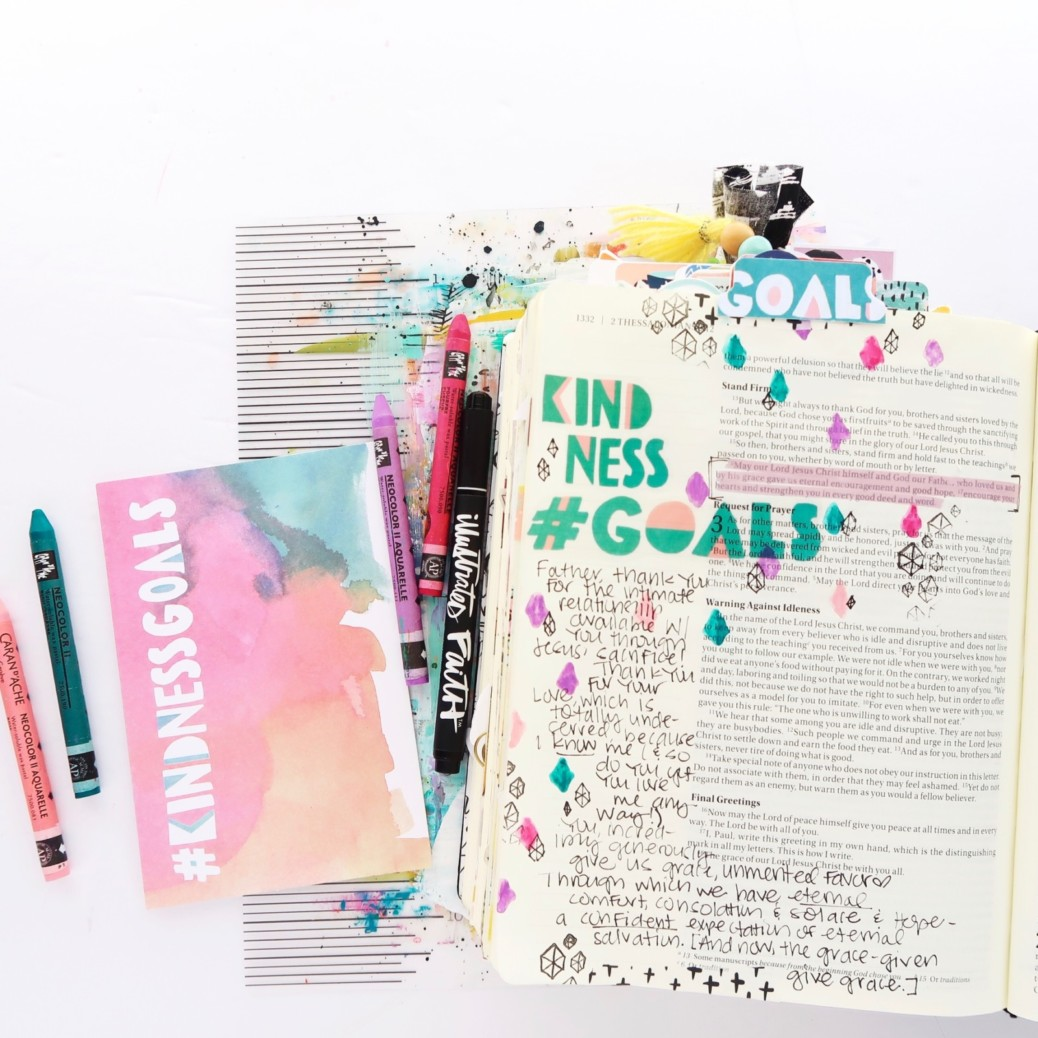 Bible Journaling Process Video by Jillian Ungerbuehler aka Hello Jillsky | #Goals Session 5
