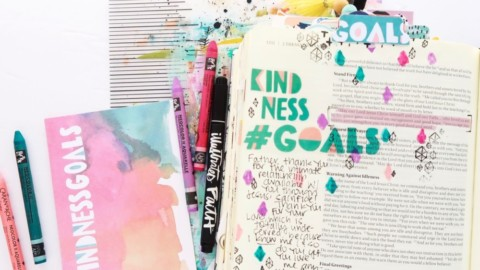 Bible Journaling Process Video | #Goals Session 5