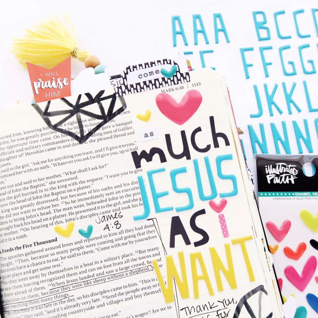 Bible Journaling Process Video by Jillian Ungerbuehler for Illustrated Faith | As Much Jesus As You Want