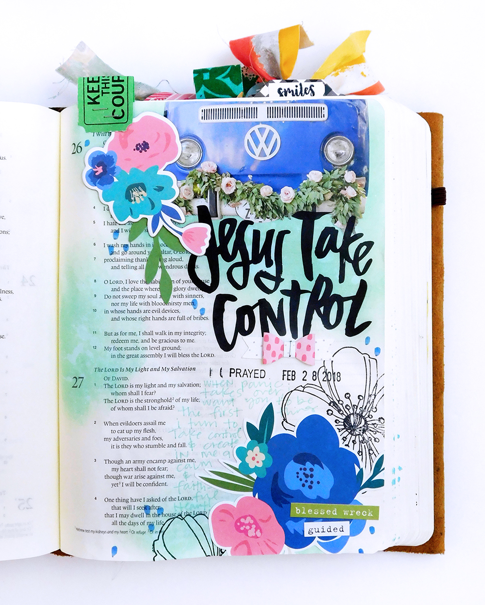 Mixed Media Hybrid Bible Journaling by Elaine Davis using digital printables | But He is Still Good