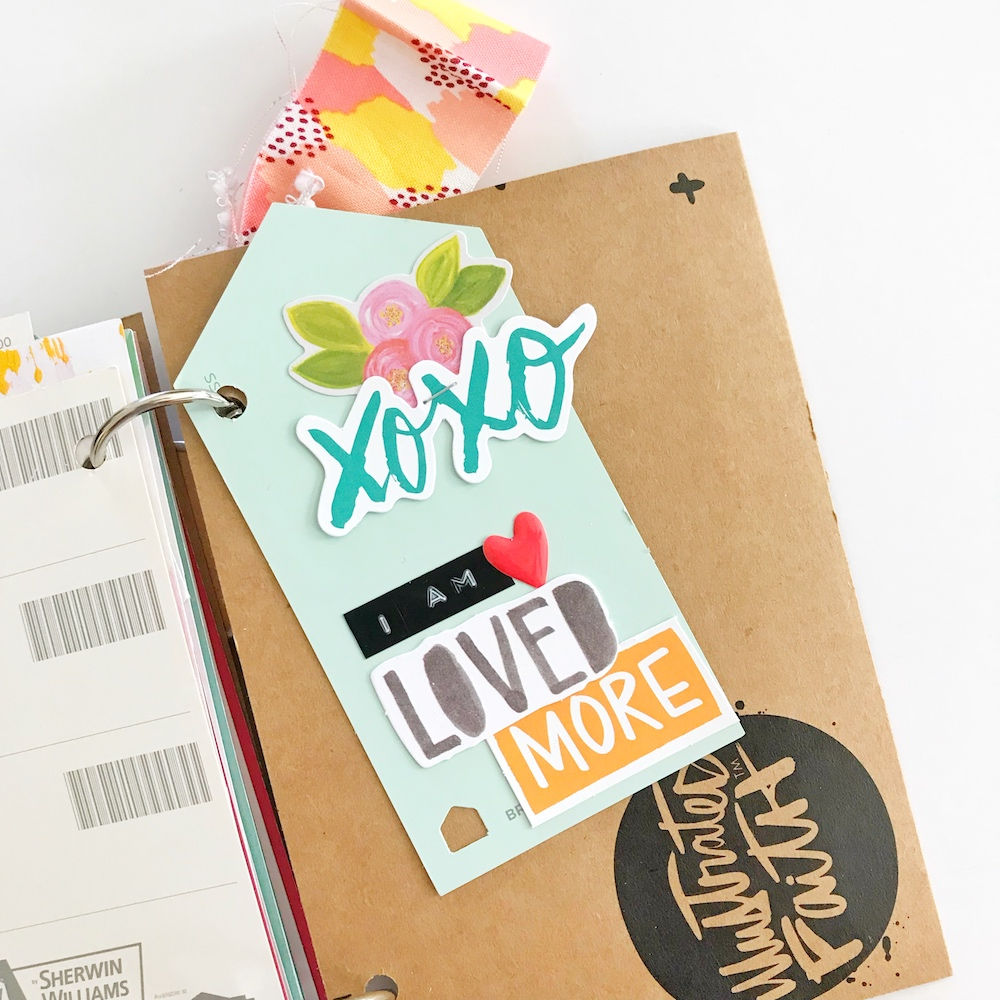 DIY Devotional Booklet Tutorial by April Crosier aka Marine Parents using the Illustrated Faith Devotional Kit 4x6 Cards | This is Love