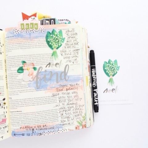 Print and Pray Bible Journaling Process Video | Red Letter Lent