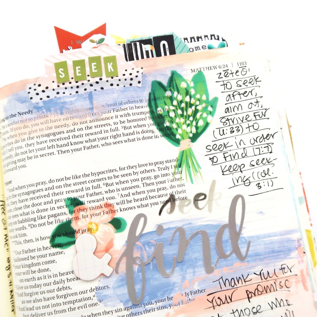 Print and Pray Bible Journaling Process Video by Jillian aka Hello Jillsky | Red Letter Lent