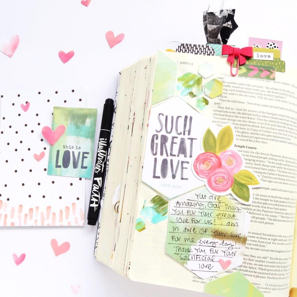 Bible Journaling Process Video by Jillian aka Hello Jillsky   This Is Love Devotional Kit