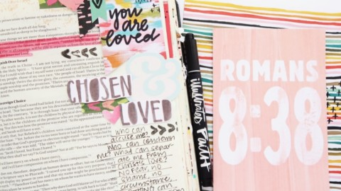 Bible Journaling Process Video | This Is Love Romans 8:38