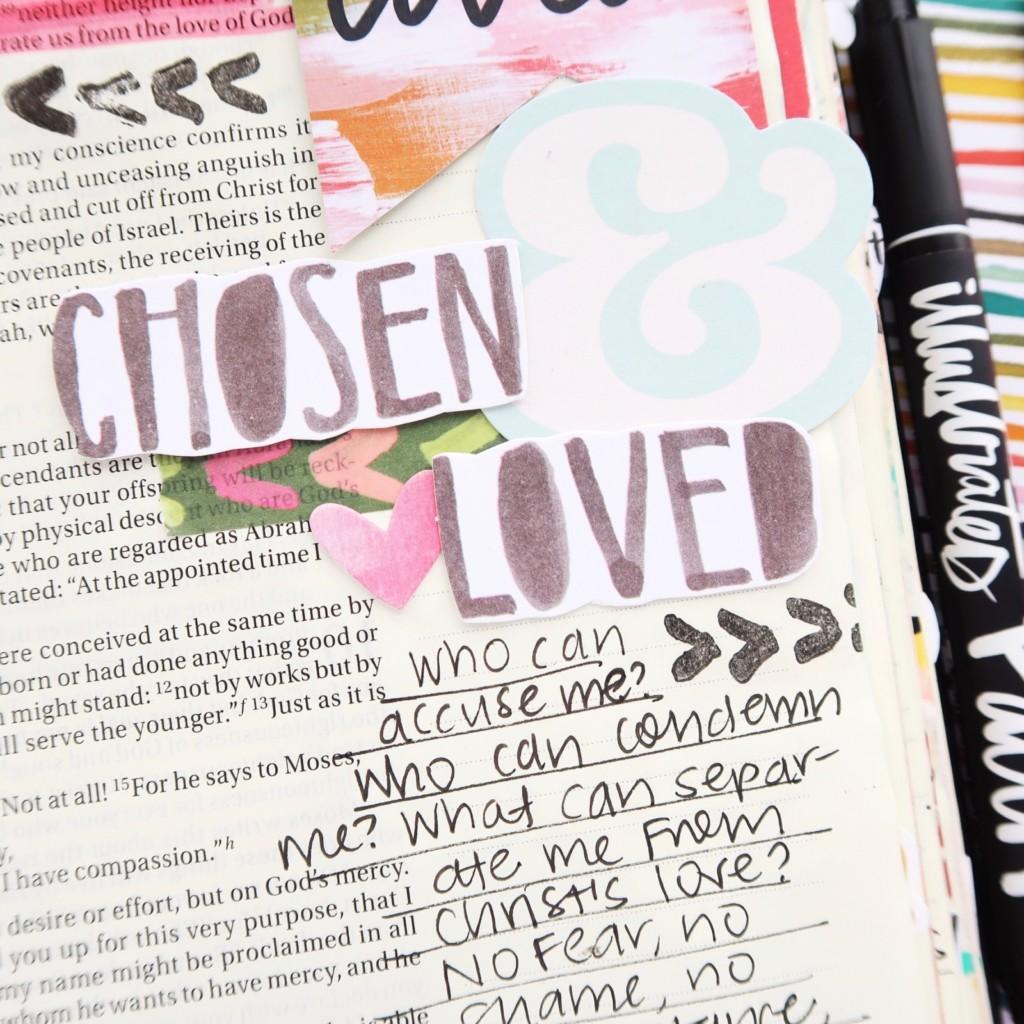 Bible Journaling Process Video by Jillian Ungerbuehler aka Hello Jillsky | This Is Love Romans 8:38