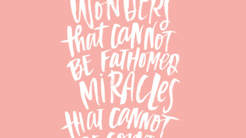 Sunday Inspiration from Job 5:9