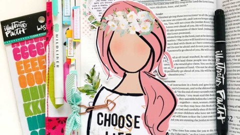 Hybrid Print and Pray Bible Journaling | Choose Life