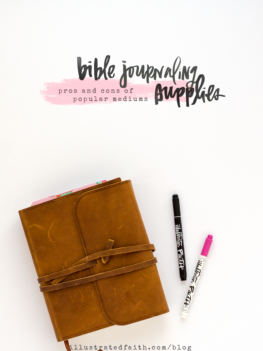 Bible Journaling Supplies - Pros and Cons of Popular Mediums used... gesso, matte medium, stamp ink. acrylic paint, watercolor, gelatos, neocolor II, journaling pens, markers, mists, spray inks, etc...