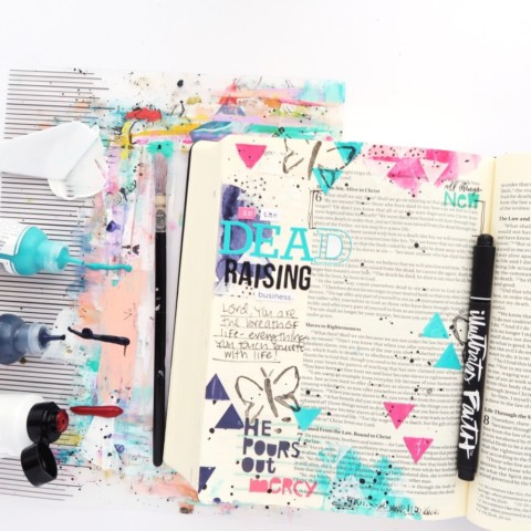 Bible Journaling Process Video | All Things New Session 7