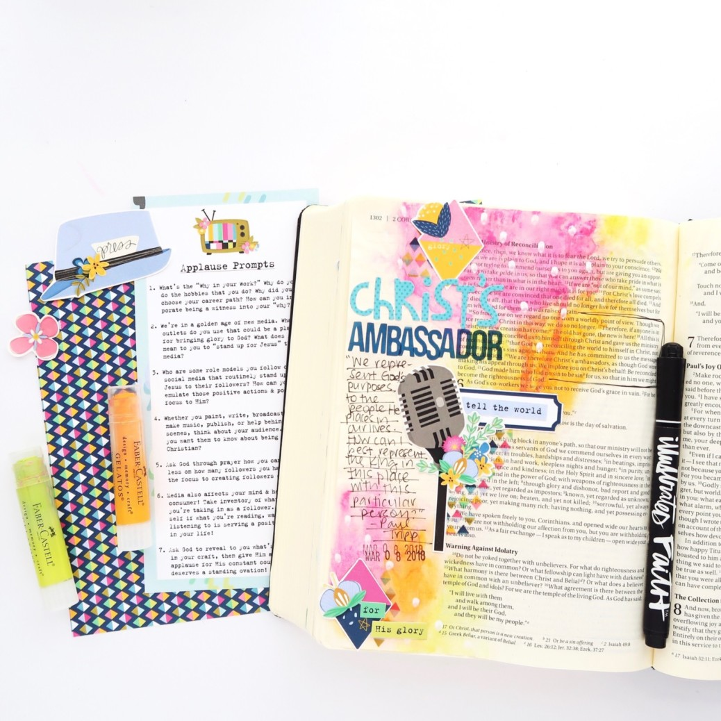 Print and Pray Bible Journaling Process Video by Jillian aka Hello Jillsky | Applause Journal Kit