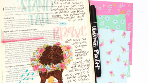 Print and Pray Bible Journaling Process Video | Made Brave