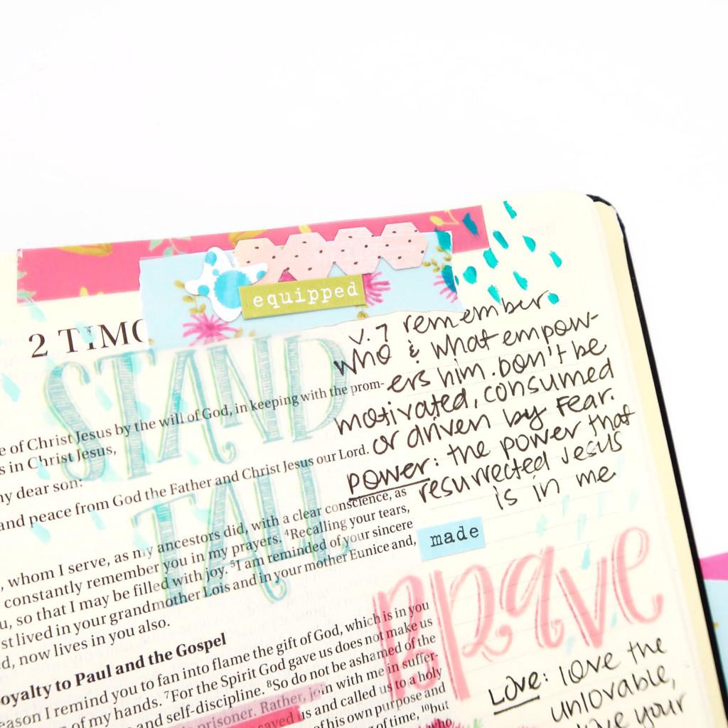 Print and Pray Bible Journaling Process Video by Jillian aka Hello Jillsky using digital printables | Made Brave