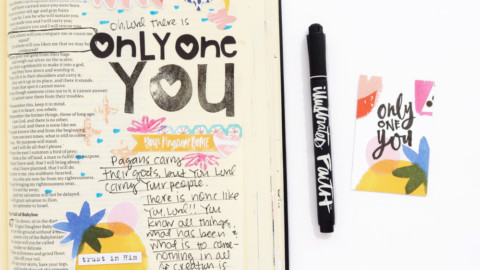 Bible Journaling Process Video | Only One You
