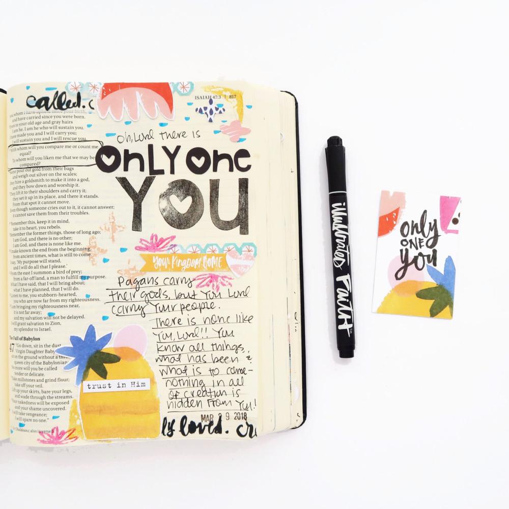 Bible Journaling Process Video by Jillian aka Hello Jillsky | Only One You Devotional Kit