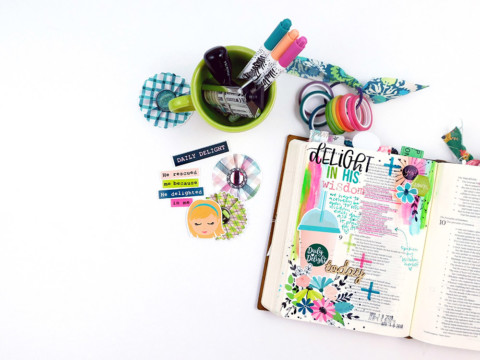 Print & Pray Hybrid Bible Journaling | Daily Delight