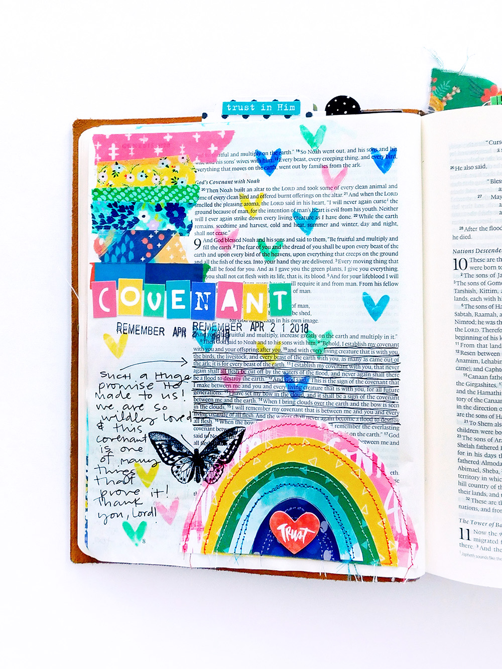 Print & Pray Hybrid Bible Journaling by Elaine Davis using digital printables | More Than a Pinky Promise