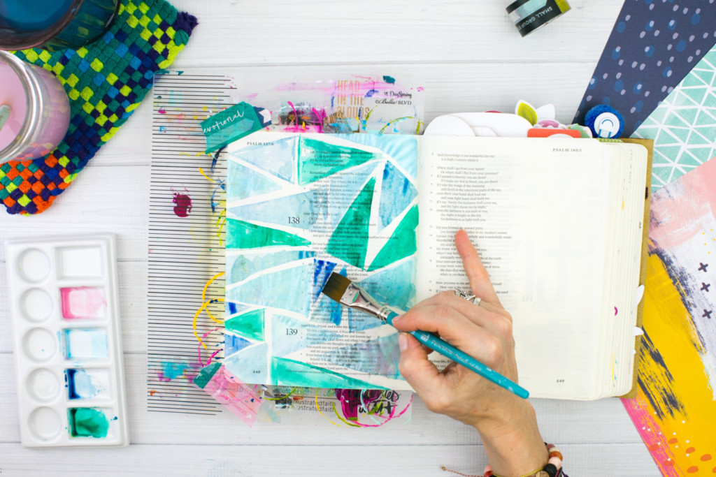 Watercolor Bible Journaling Tutorial by Amy Bruce | Pieces