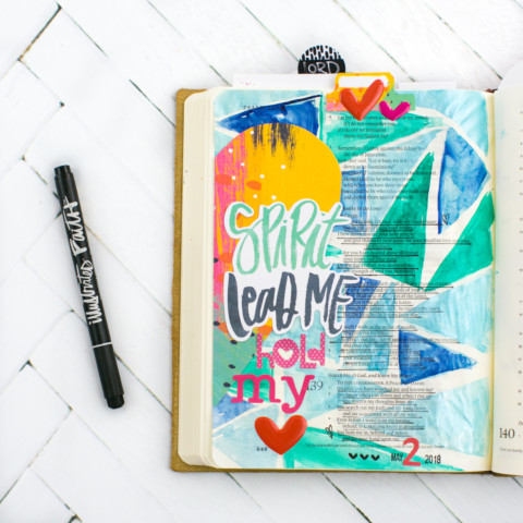 Watercolor Bible Journaling Tutorial | Pieces