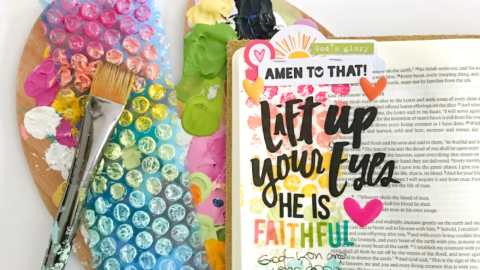 Mixed Media Bible Journaling Tutorial | Bubble Wrapping the Rainbow | Genesis 9