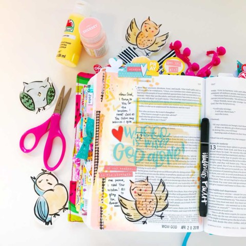 Print and Pray Hybrid Bible Journaling | Wise One