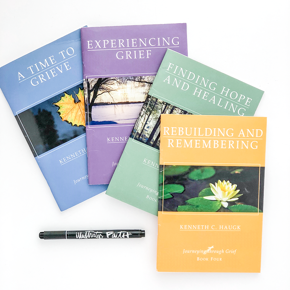 Biblical Resources and Helps in the Grief Journey by Heather Greenwood | Bible journaling, music, books, prayer journal, church resources, GriefShare
