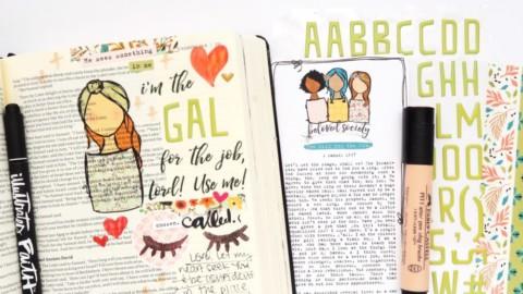 Print and Pray Bible Journaling Process Video | Girl For The Job | 1 Samuel 16:7
