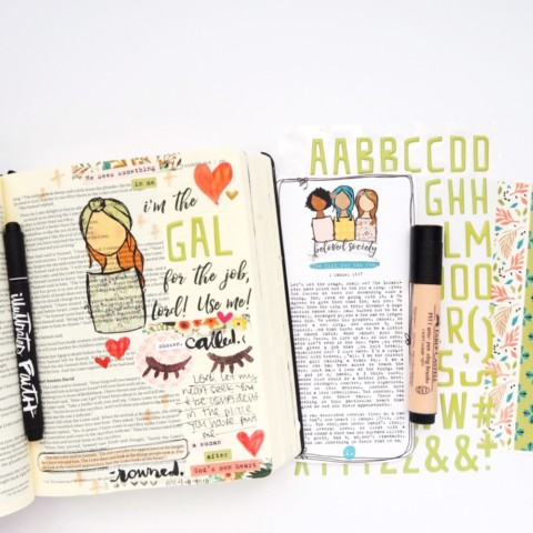 Print and Pray Bible Journaling Process Video | Girl For The Job | 1 Samuel 16:7