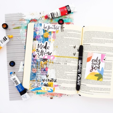 Mixed Media Bible Journaling Process Video | Only One You Session 4