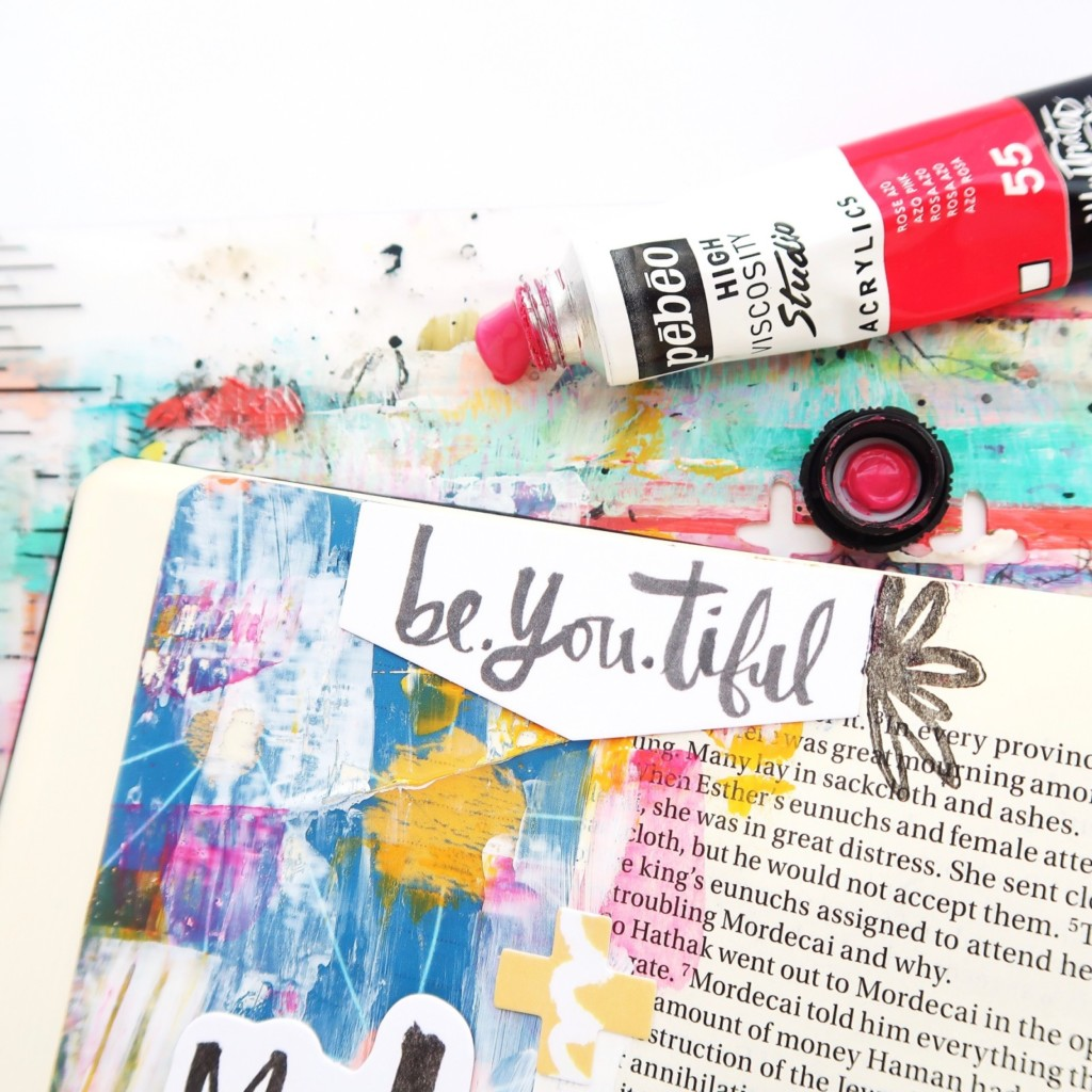 Mixed Media Bible Journaling Process Video by Jillian aka Hello Jillsky | Only One You Devotional Kit Session 4
