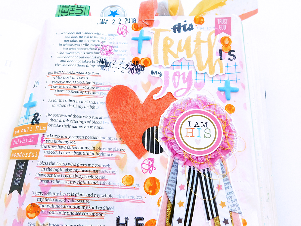 Print & Pray Hybrid Bible Journaling by Elaine Davis using digital printables | Superlatives