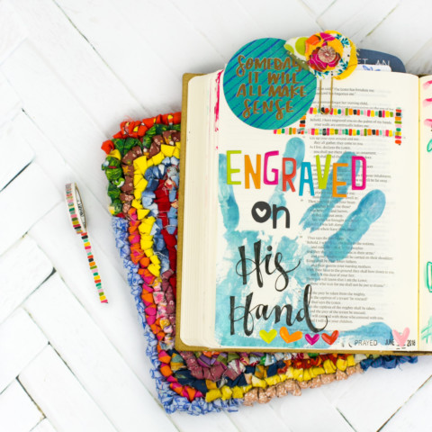 Mixed Media Bible Journaling Tutorial | His Hand | Acrylic Hand Printing