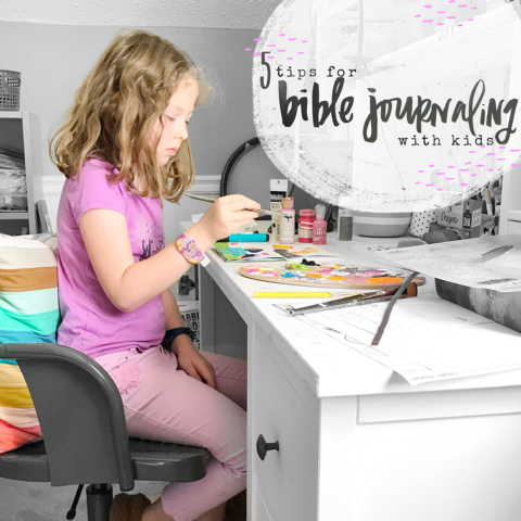 5 Tips for Bible Journaling with Kids | #KidsintheWord | Proverbs 22:6