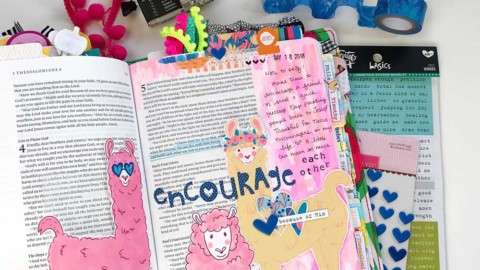Print and Pray Mixed Media Hybrid Bible Journaling | Encourage Each Other