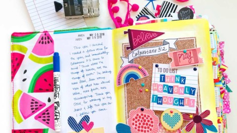 Print and Pray Hybrid Bible Journaling   Heavenly Thoughts
