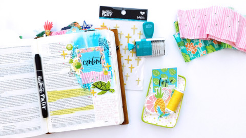 Print & Pray Hybrid Bible Journaling | Simple Page Clusters