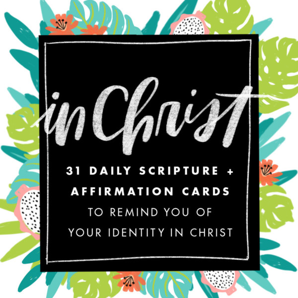 Illustrated Faith In Christ Affirmation Card Set