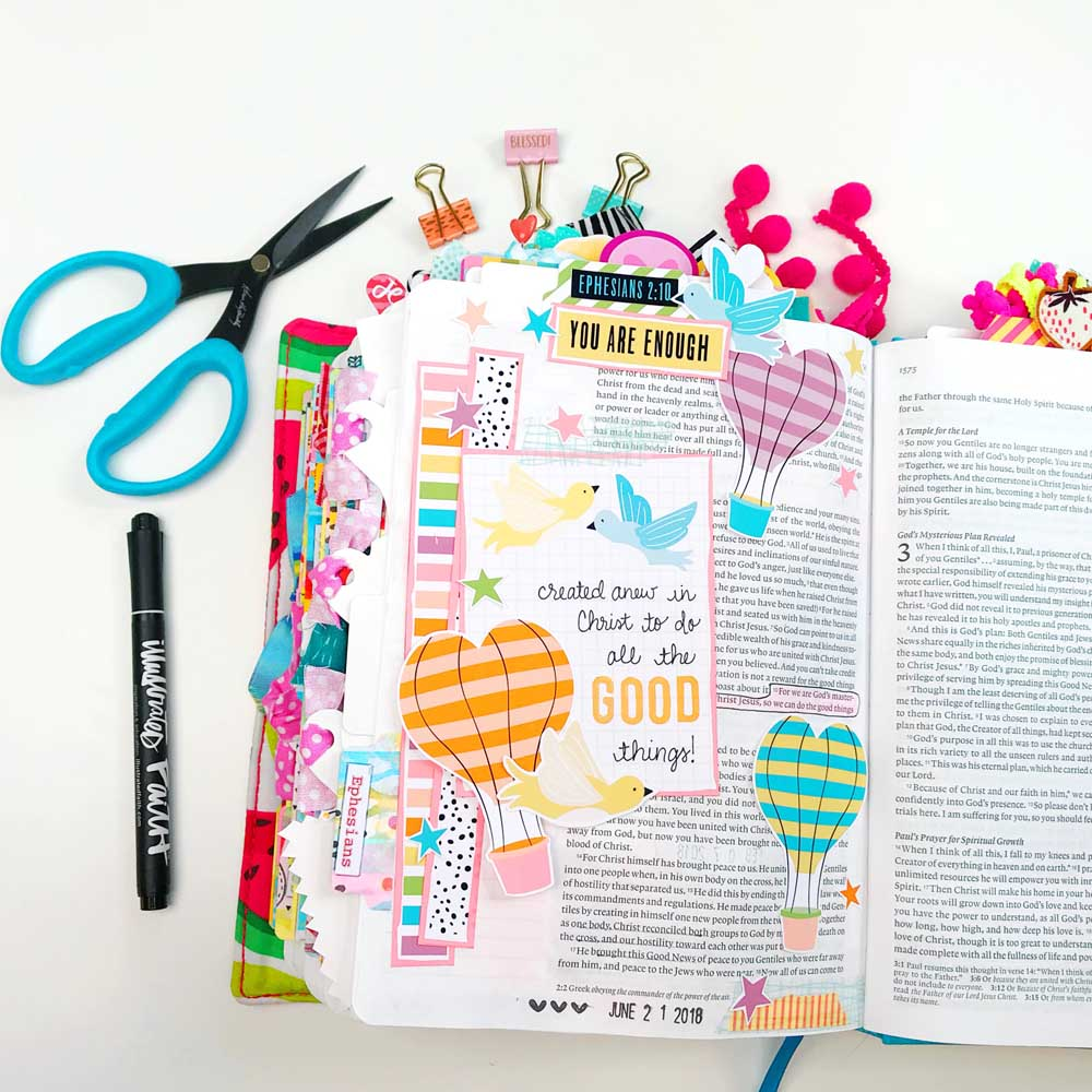 Print and Pray Hybrid Bible Journaling by Cristin Howell using digital printables | Good Things
