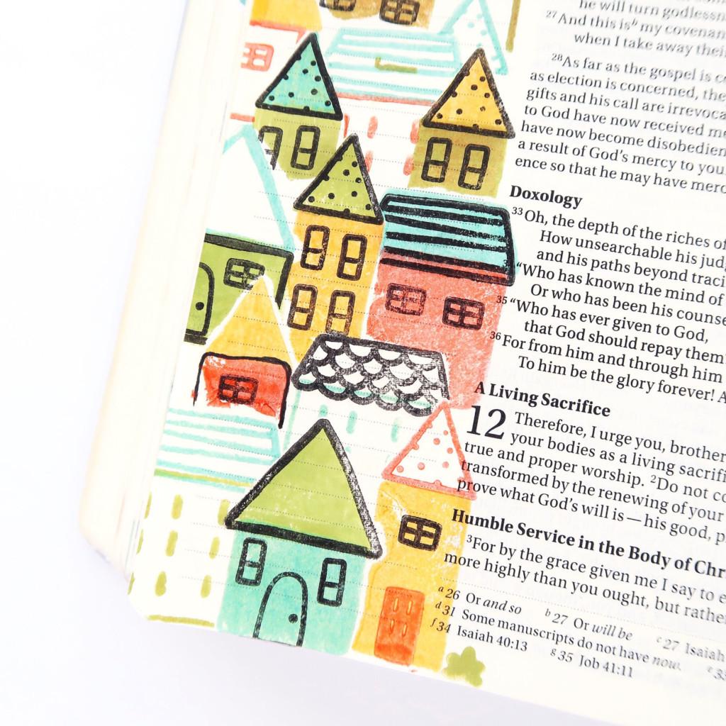 bible journaling process video and tutorial by Jillian aka Hello Jillsky   stamp masking   Stronger Together devotional kit