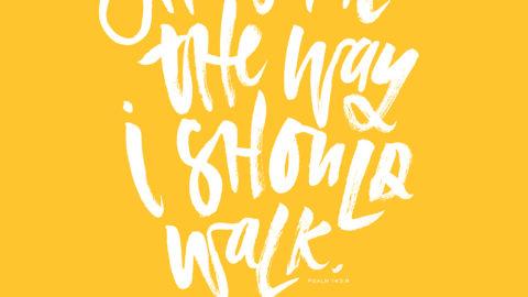 Sunday Inspiration from Psalm 143:8