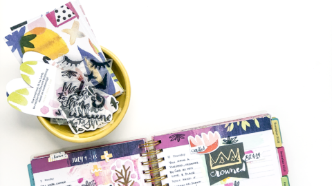 Mixed Media Tutorial – Using a Planner as an Art Journal | Let's Go Through Our Leftover Devotional Kit Supplies