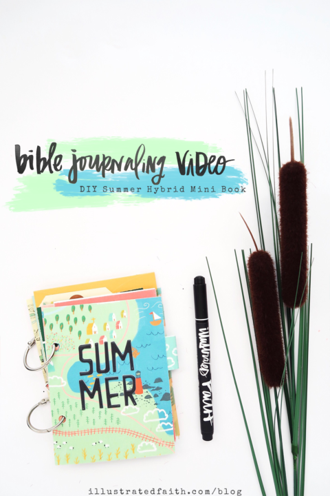 DIY Print and Pray Hybrid Summer Mini Book Video Process | Use Your Map